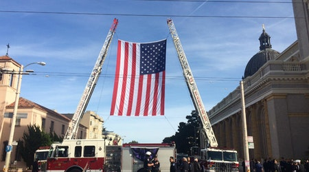 Stanyan Closed To Traffic As SFFD Honors Battalion Chief Terry Smerdel