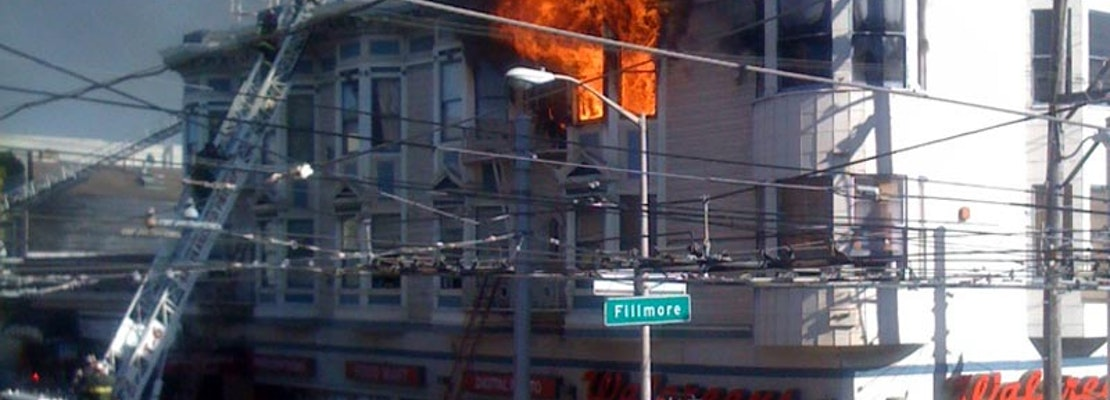 Massive Fire Above Walgreens at Haight and Fillmore