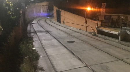 Sparks, Flames Near Cole Valley Muni Tunnel Light Up Night Sky