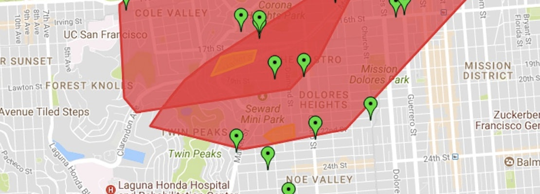 Power Outage Extends From Cole Valley To Mission [Updated]