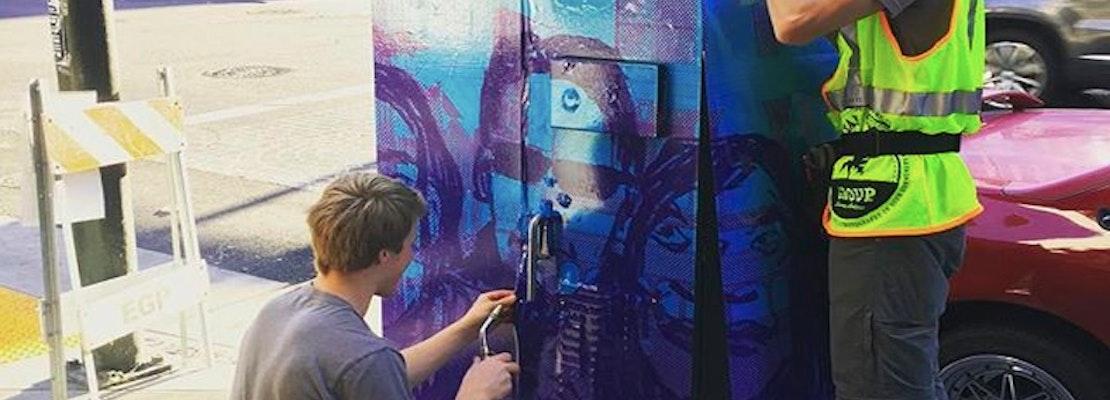 Tenderloin Bins, Boxes Transformed Into Canvas For Community Art