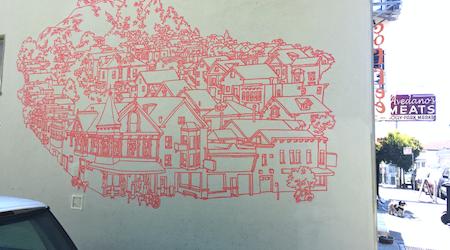 Bernal Heights Artist Adapts 'Pinhole Coffee' Mural For T-Shirt