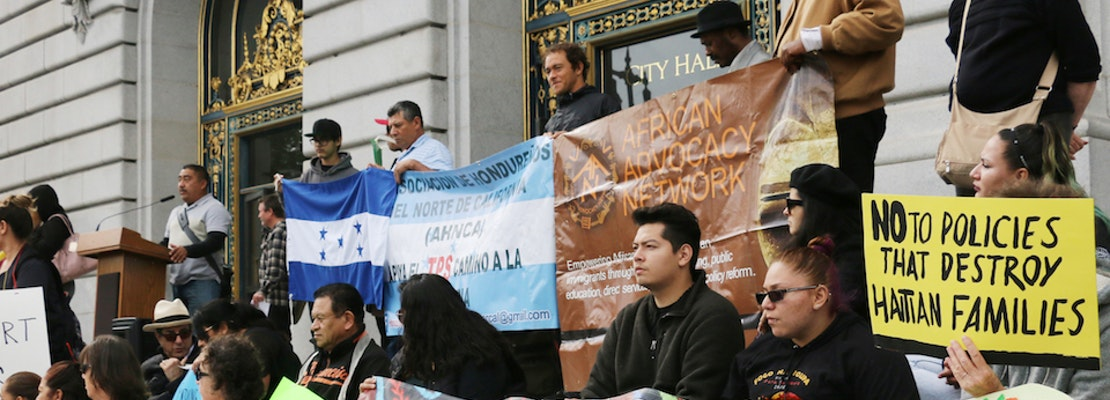 Protestors Seek Protection For Immigrants From Strife-Torn Countries