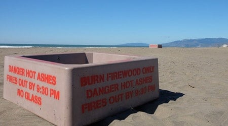 Ocean Beach's Fire Pits Dark Until March