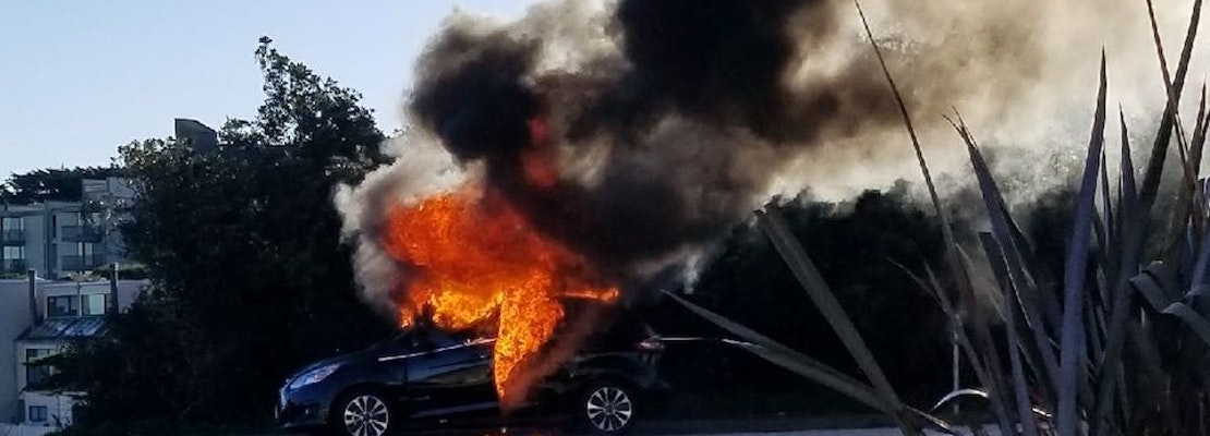 SFFD Responding To Diamond Heights Car Fire