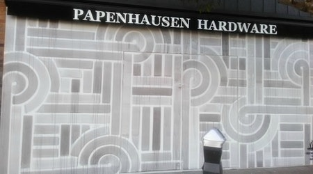 West Portal Hardware Store Gutted By Fire Installs Temporary Mural
