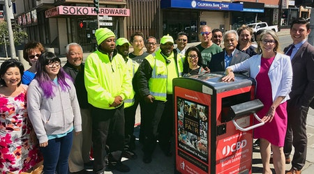 City unveils first 4 of 80 new Bigbelly trash cans in Japantown