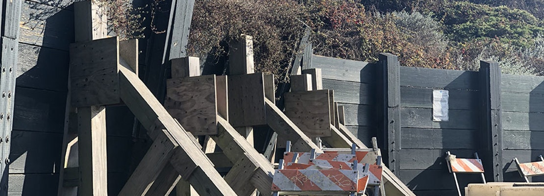 Public Works to fix long-defunct Hawk Hill Park retaining wall