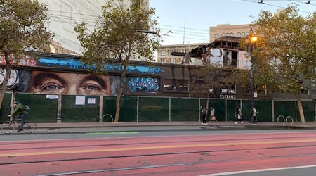 6th & Market's former 'The Hall' to finally be demolished, taking Robin Williams mural with it
