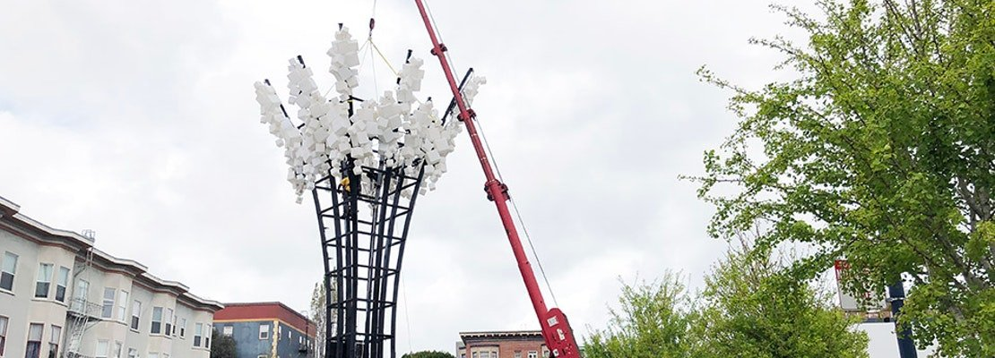 Fractal Sculpture 'SQUARED' Rises Over Hayes Valley
