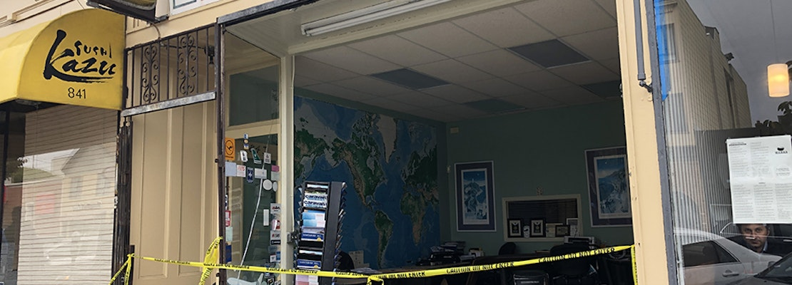 SUV driver plows into Inner Sunset travel agency