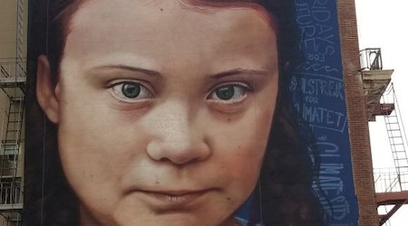 18-meter Greta Thunberg mural brings flood of controversy & commentary