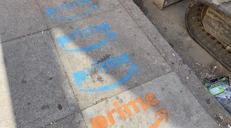 Mystery Amazon Prime logos appear on Tenderloin sidewalks