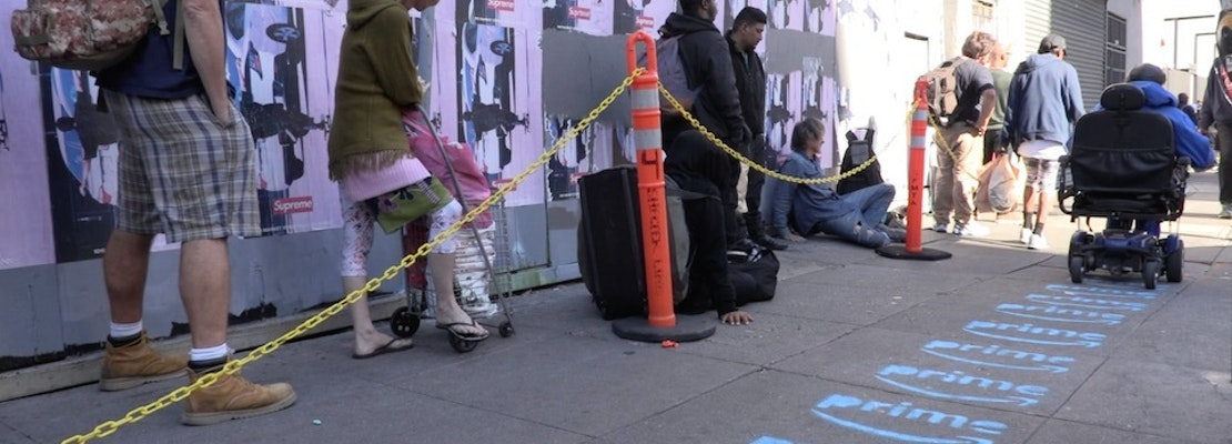Protesters claim responsibility for Tenderloin's mysterious Amazon Prime sidewalk ads [NSFW]