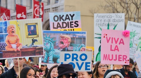 Scenes from the 2020 Women's March in San Francisco