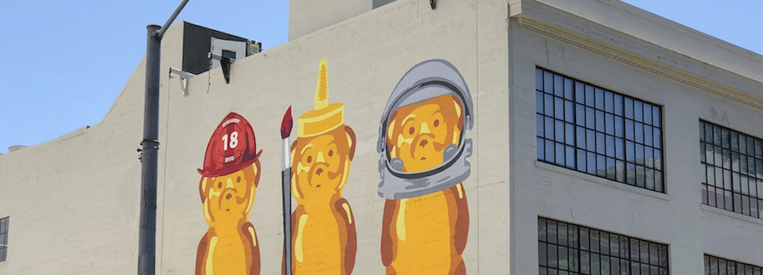 Bears over SoMa: artist's first large-scale mural rises