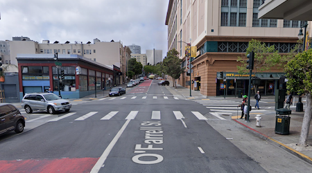 Pedestrian dies after being hit by driver at O'Farrell & Polk