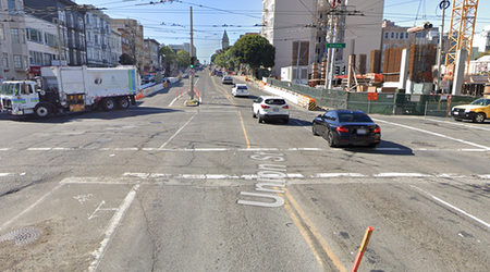 Pedestrian in life-threatening condition after being hit by bus on Van Ness