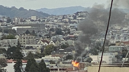 Smoke from Sunday first-alarm fire visible throughout Mission; seriously damages apartment building