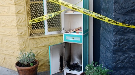 Noe Street's Little Free Library Set Aflame