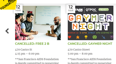 Event cancellations and postponements grow in San Francisco amid COVID-19 concerns
