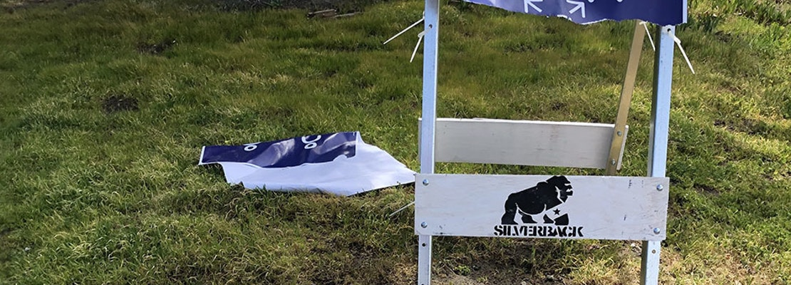 Vandals rip up signs warning SF parkgoers to stay 6 feet apart