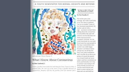 Bernal Heights kids, teens launch quarantine-inspired community newspaper