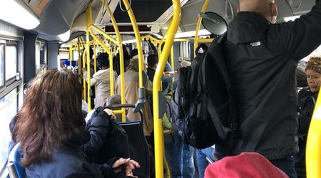As Muni trains go offline, riders say buses are too crowded to socially distance