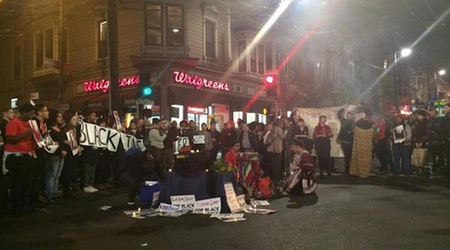 Saturday Night #ShutDownCastro Protest Hit 18th & Castro, Toad Hall
