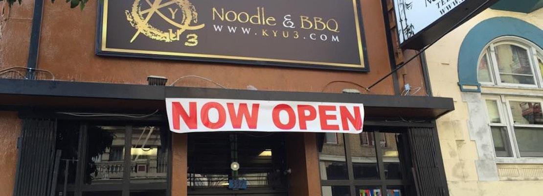Kyu 3 Noodle & BBQ Debuts On Jones
