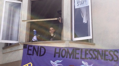 Vacant Castro home occupied by unhoused SF residents in May Day protest