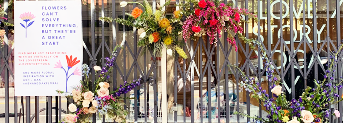 San Francisco florist gives back by 'flower flashing' closed storefronts