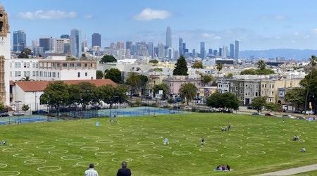 City installs social-distancing circles at Dolores Park, Marina Green, more