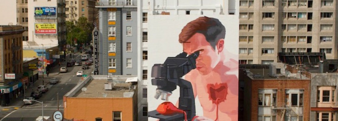 Anonymous Artist BiP Unveils 7-Story Tenderloin Mural