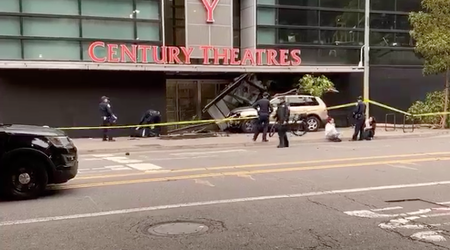SUV driver crashes into Westfield San Francisco Centre mall, injuring pedestrian