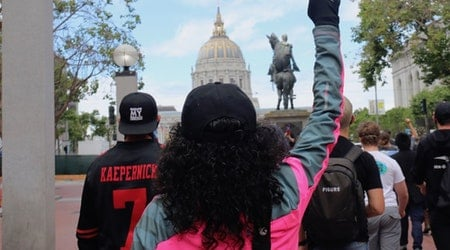 Scenes from the George Floyd protest in San Francisco