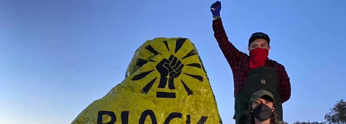 'Black Lives Matter' scrubbed from Bernal Hill rock; artist returns to paint it again