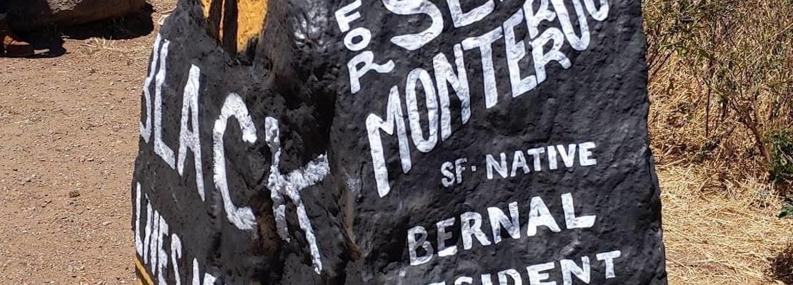 SF Public Works removes 'Black Lives Matter' art from Bernal Hill rock [Updated]