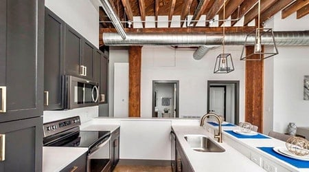 What apartments will $1,800 rent you in Downtown, this month?