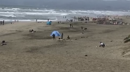 5 teenagers rescued from the water at Ocean Beach, 2 remain in critical condition