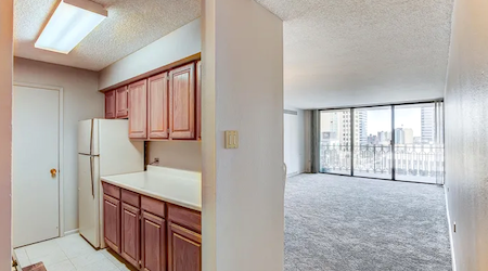 What apartments will $1,900 rent you in Central Business District, this month?