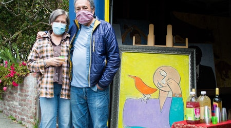 'Artists-in-place': Bernal Heights neighbors transform homes into outdoor gallery walk