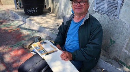 Artist Rico Solinas paints the Bayview District, one building at a time