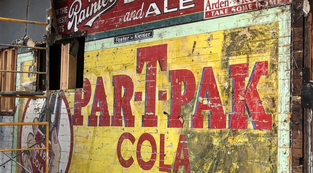 Construction crew discovers historic advertising behind facade at Duboce Park