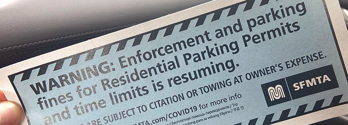 San Francisco to resume parking permit enforcement next week