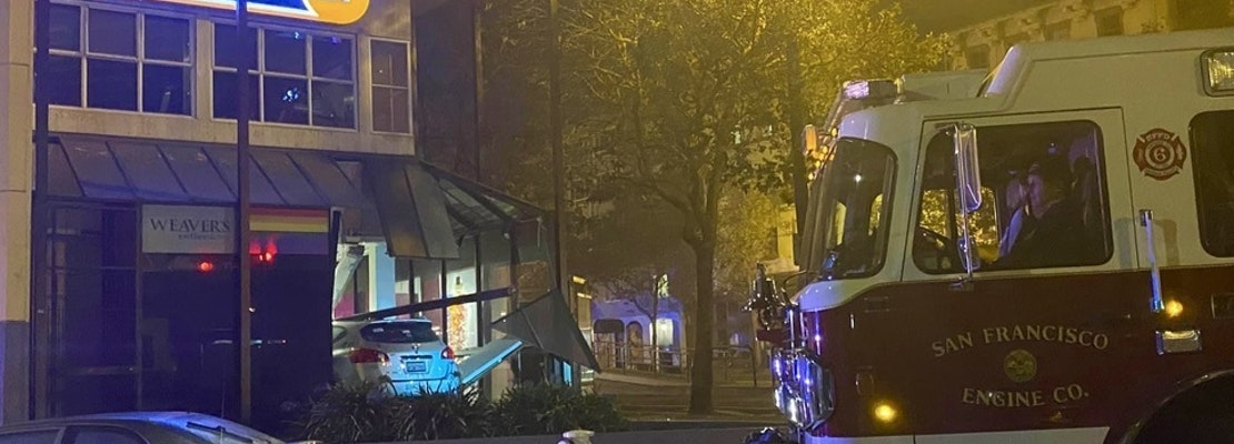Driver crashes into Castro's Fitness SF, Weaver's Coffee building [Updated]