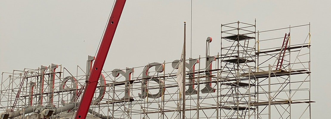 Iconic Ghirardelli sign returns to Ghirardelli Square after restoration
